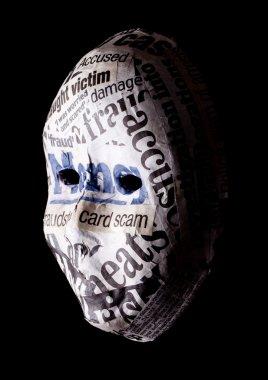 Identity theft concept mask