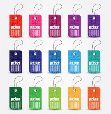 Price tag with retro pattern