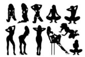 sexy Silhouetten von Frauen