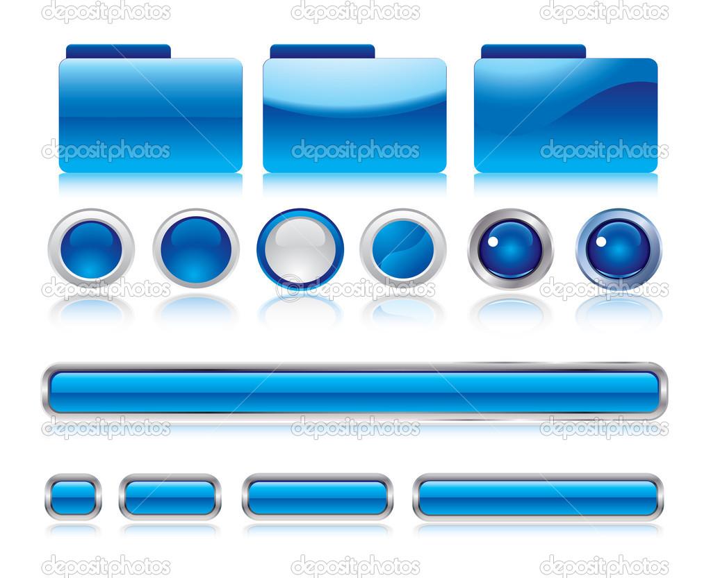 cf1f633b65ddf Botones Web diseño elementos en formato vectorial editable - botones de  diseño web — Vector de ...