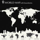 Világ Térkép-val országok