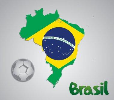Brazil map card FIFA World Cup