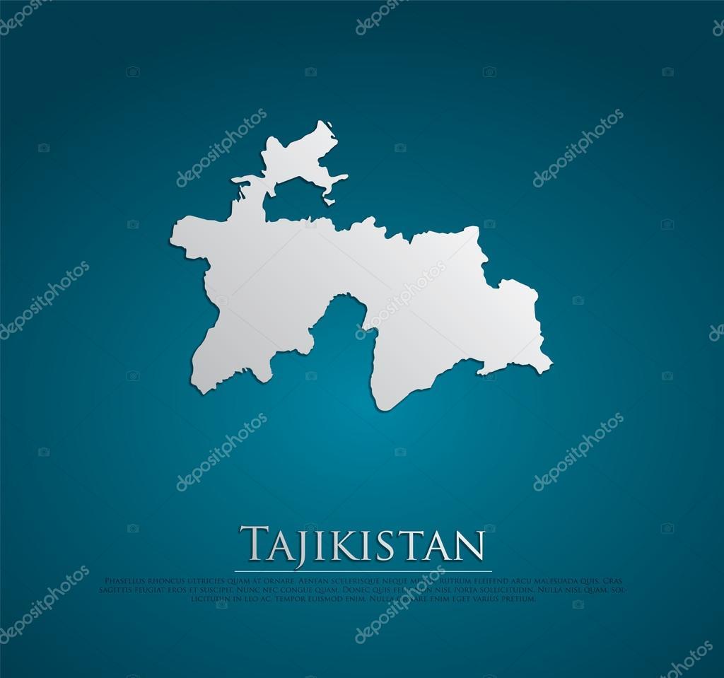 Tajikistan Map Stock Vector Archymeder - Tajikistan map vector