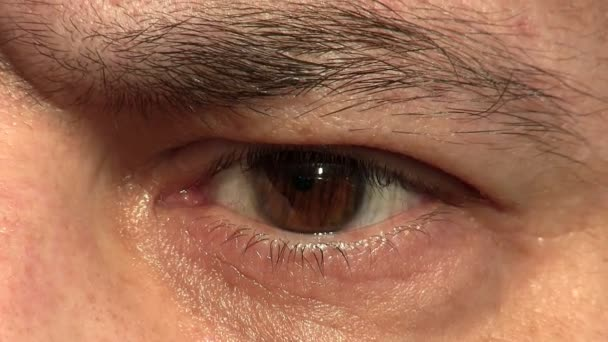 Man eye closeup