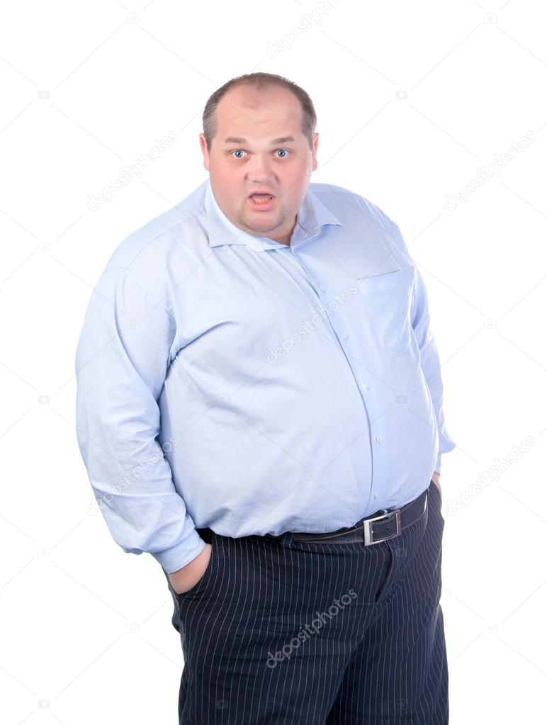 fetter schwarzer Mann