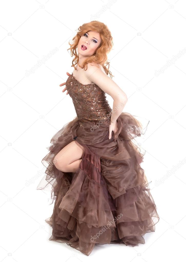 Donna Queen Vestito Foto Ritratto Da — Stock Drag Uomo Di 1wq6vY