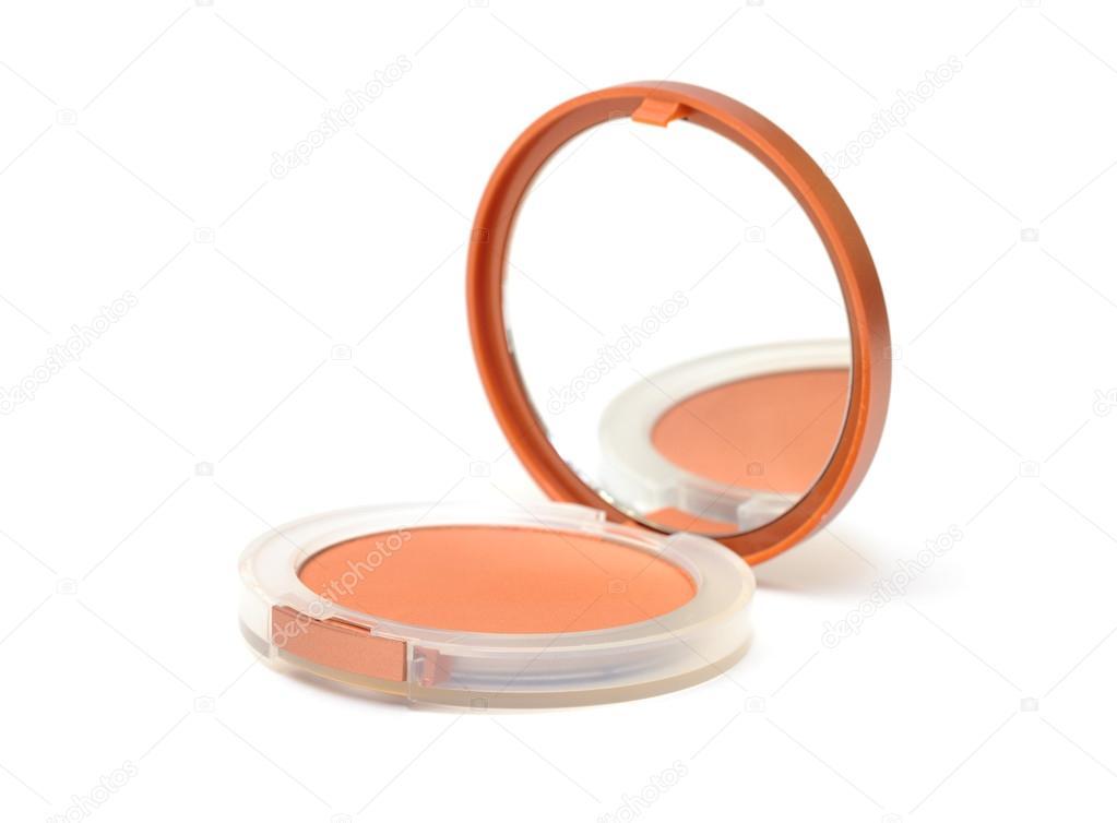 Spiegel Make Up : Make up puder in box mit spiegel u stockfoto discovod
