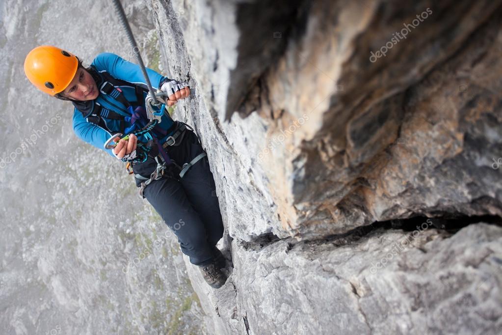 Klettersteig Weibl : Klettersteig klettern u stockfoto jakubcejpek