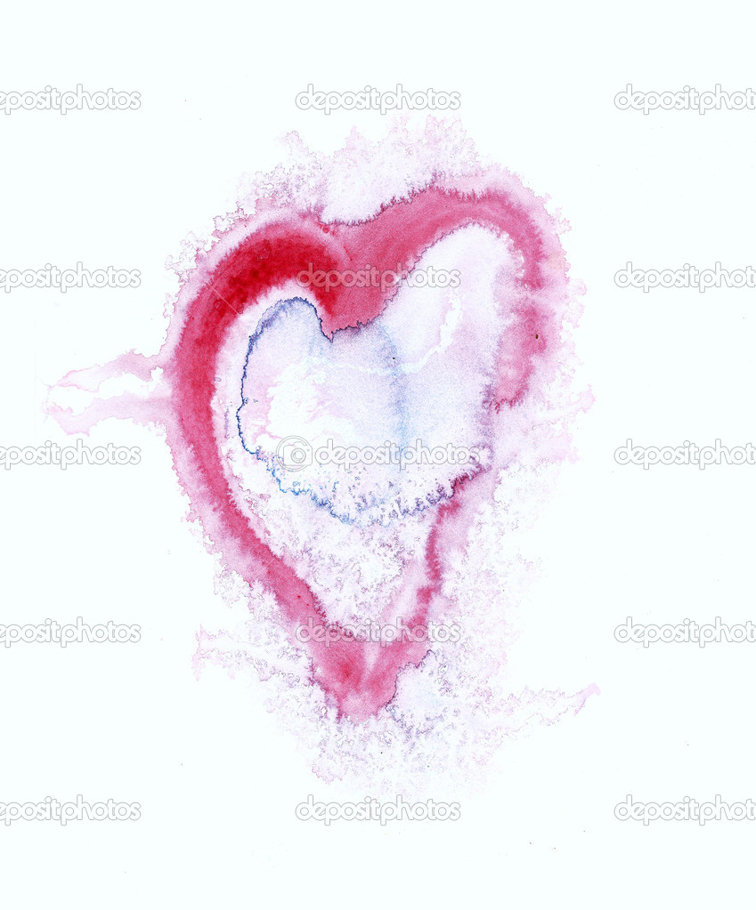 Painted Heart Symbol Of Love Stock Photo Siloto 25161753