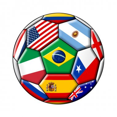 Brazil 2014 - soccer with flags
