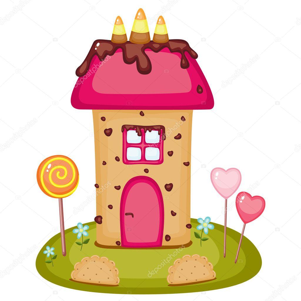Casa di caramelle vettoriali stock natalie art 12158027 for Casa di caramelle