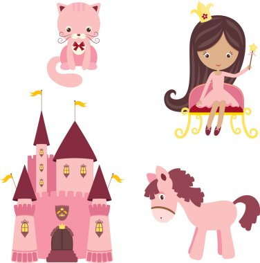 Pink princess design elements