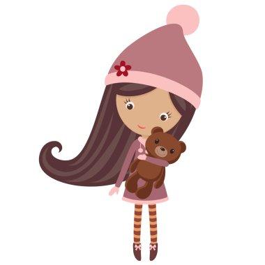Cute girl in winter