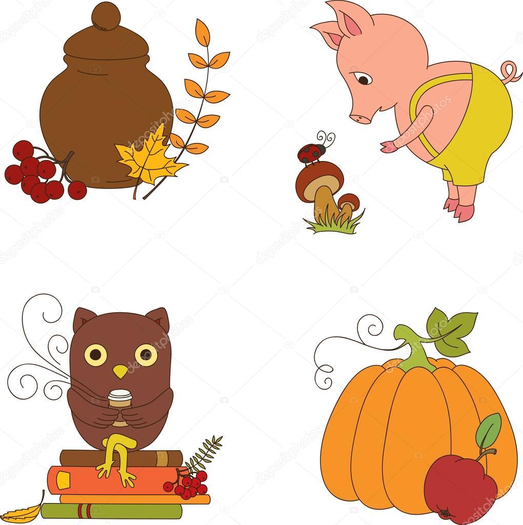 Herbst Cliparts Stockvektor Natalie Art 31451479