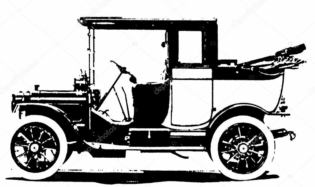 Old car silhouette — Stock Photo © nobora #12173109