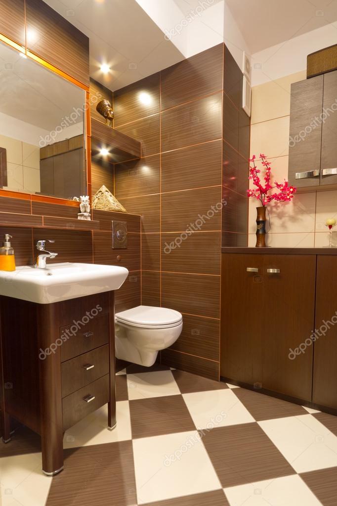 Modern barna fürdőszoba — Stock Fotó © Patryk_Kosmider #12097431