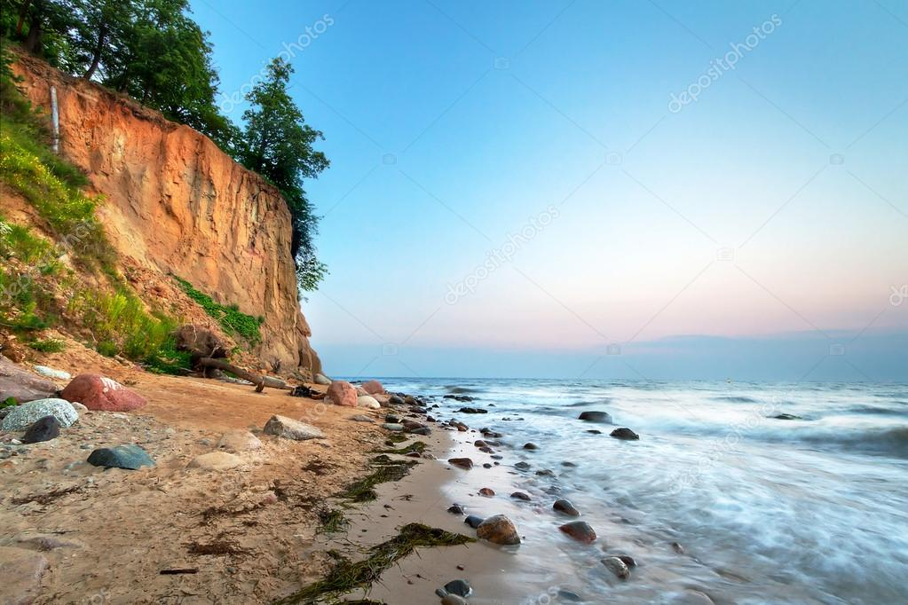 Cliff of Orlowo at Baltic sea