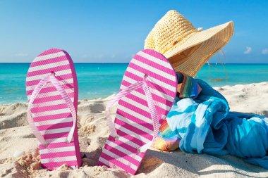 Holidays on Caribbean beach