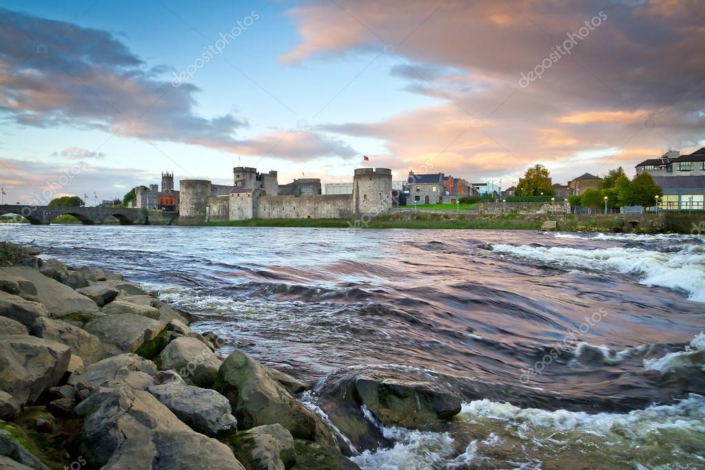 King John Castle at Shannon river in Limerick