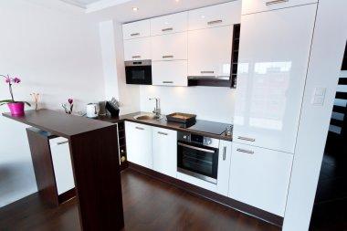 Modern white and glossy kitchen