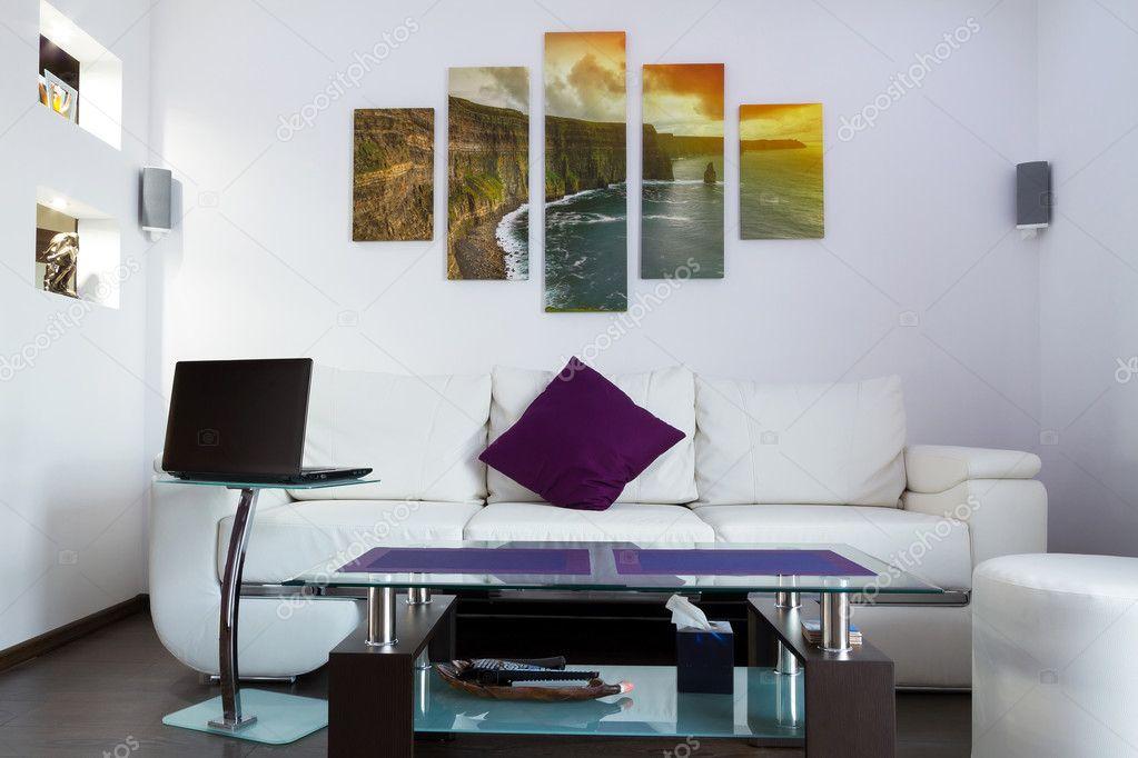 Modern lliving room interior
