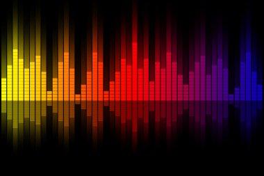 Music equalizer wave illustration stock vector