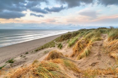 Rossbeigh beach dunes at sunset