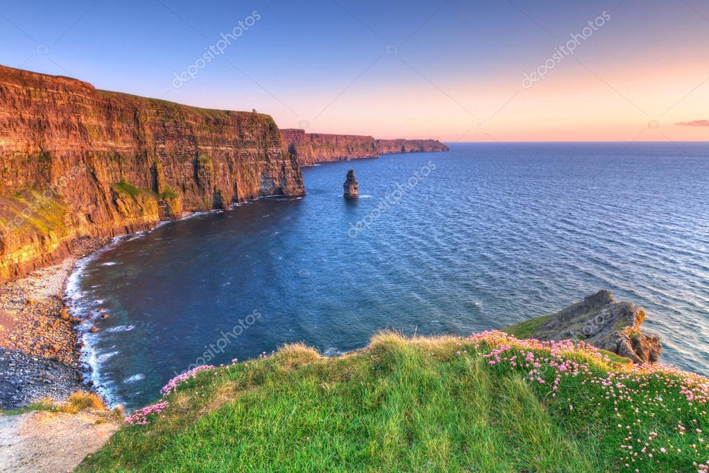 Cliffs of Moher at sunset in Co. Clare