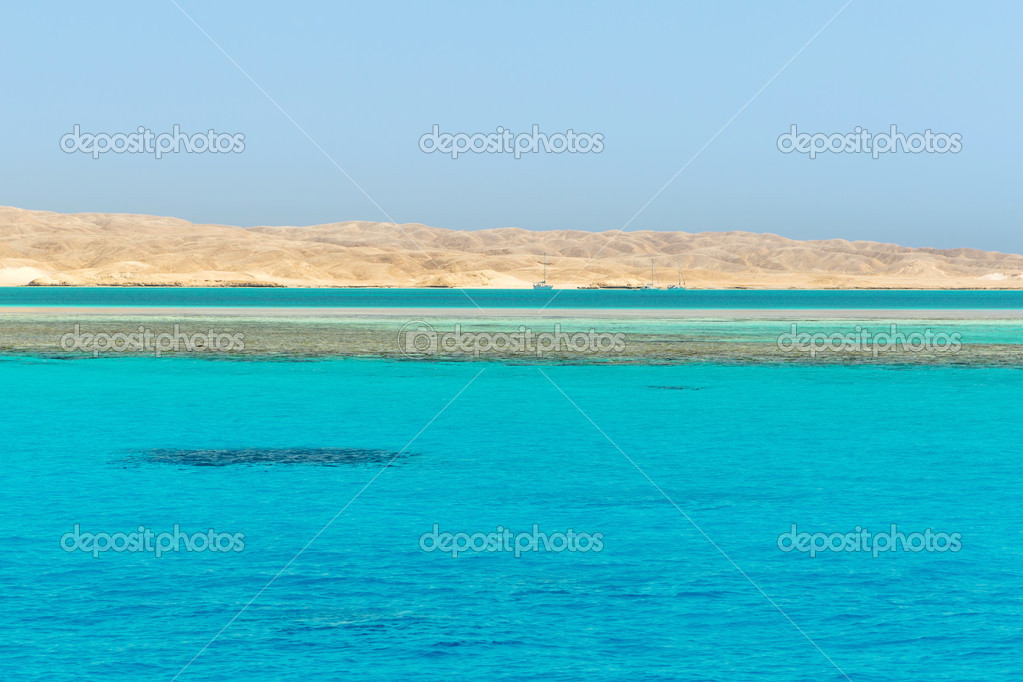 Turquoise water of Red Sea