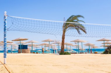 Volleyball on the beach of Red Sea