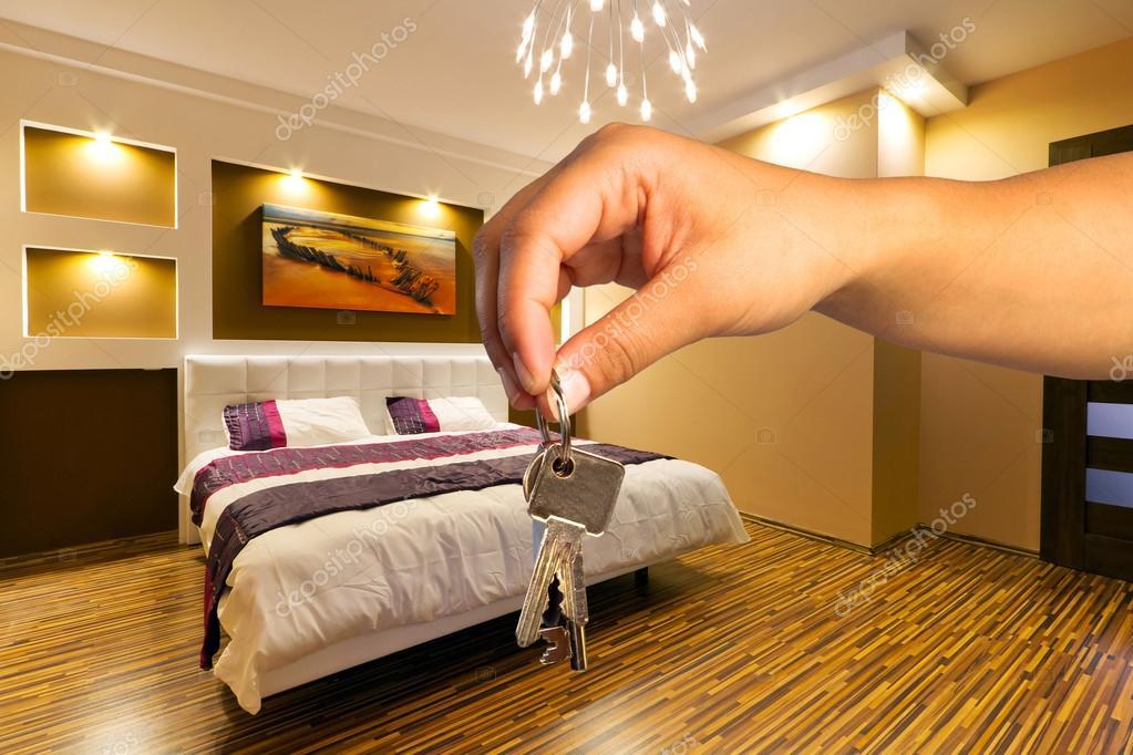 Keys to new, modern apartment