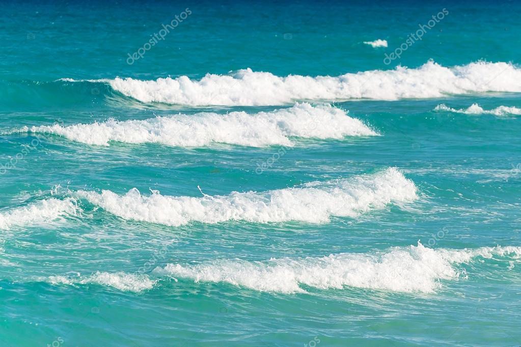 Waves on the Caribbean Sea