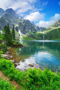"Картина, постер, плакат, фотообои ""глаз морского озера в горах татр пейзажи"", артикул 39459925"