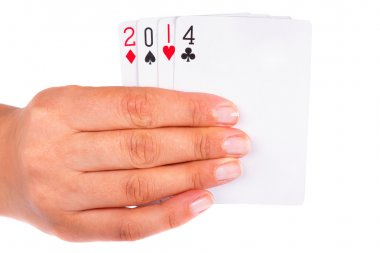 Lucky year 2014 in cards