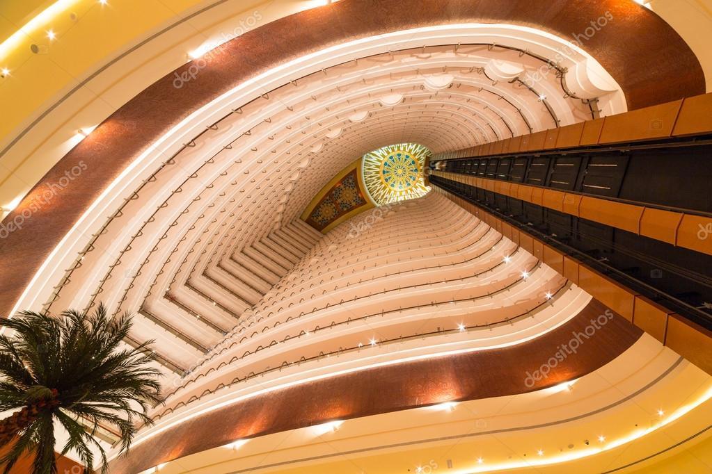 Lobby and elevators of Khalidiya Palace in Abu Dhabi