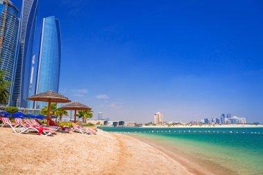 Holidays on the tropical beach in Abu Dhabi