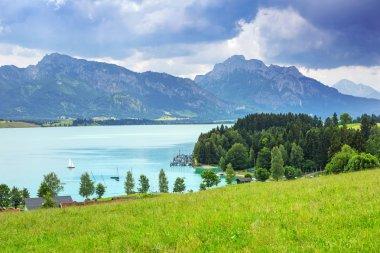 Forggensee lake at Bavarian Alps
