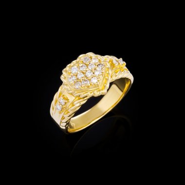 gold ring in the shape of heart
