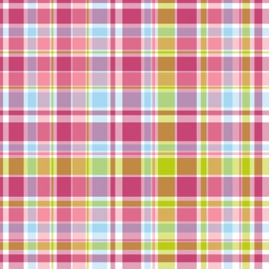 Summer pink and blue candy pastel plaid
