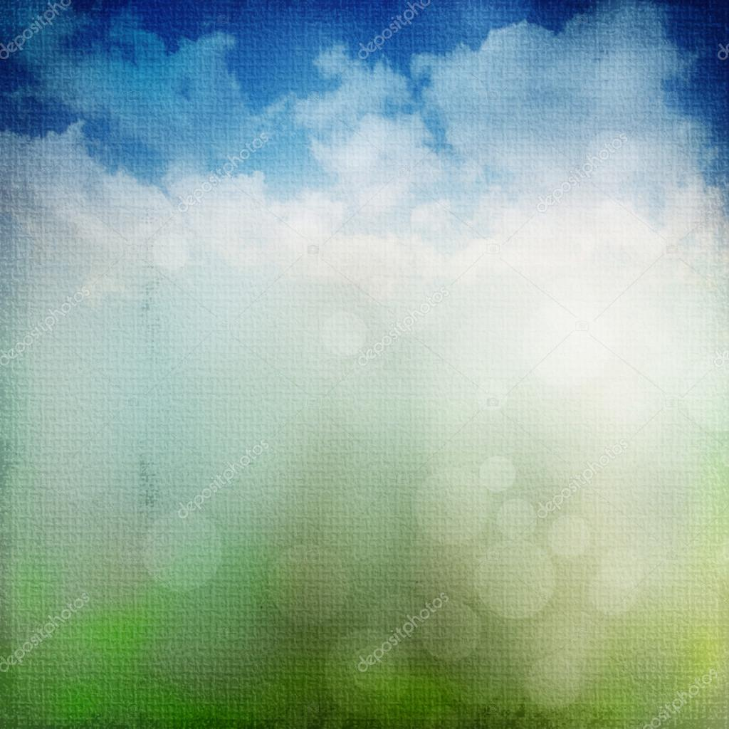 Abstract nature background with nature colors and bokeh lights