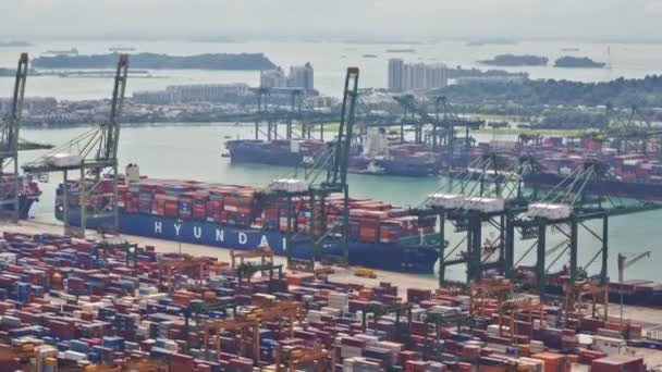 Timelapse of the Singapore port