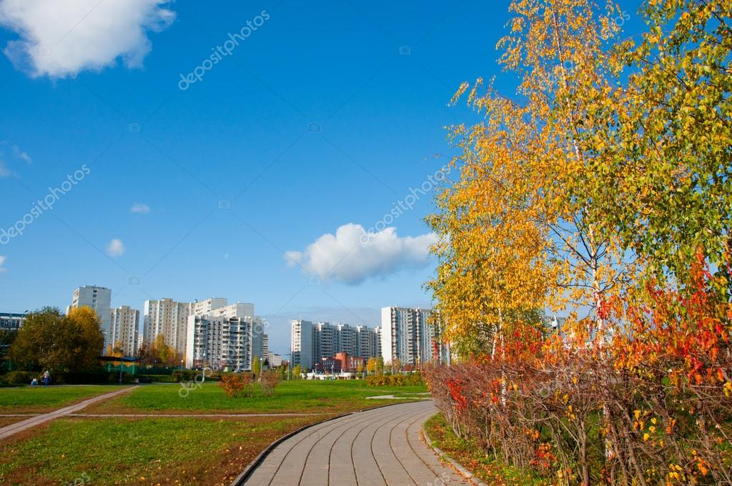 Autumn in the city, Moscow, Russia