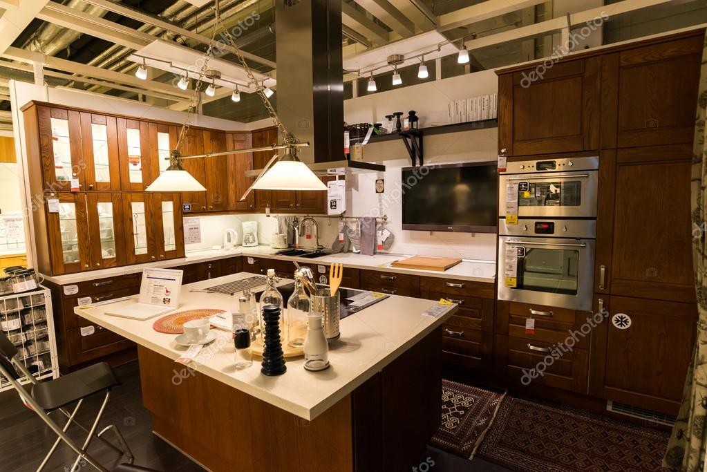Kitchen In The Furniture Store Ikea Stock Editorial Photo