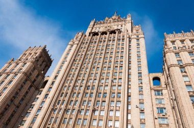 The Russian Foreign Ministry on Smolensk Square in Moscow, Russia