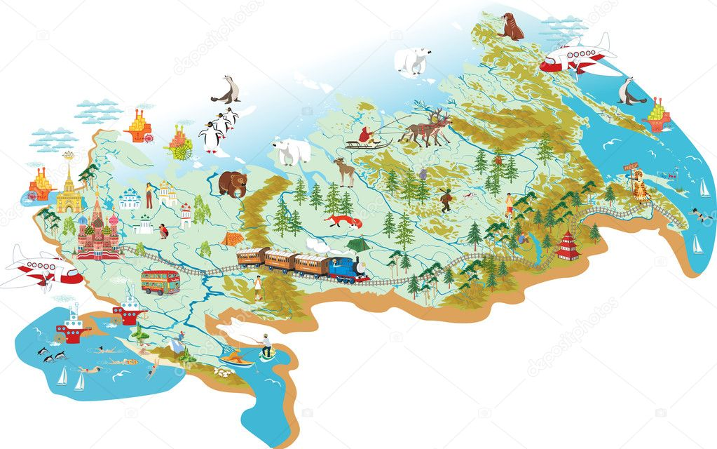 Map Of Russia Stock Vector C Mikhaylova 23419174