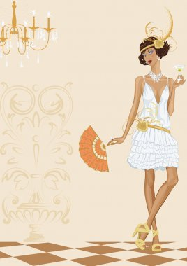 Woman in style of the twenties
