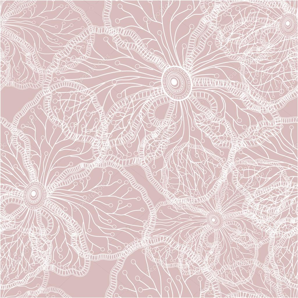 Seamless Pattern Background With Orchid Flowers U2014 Stock Vector