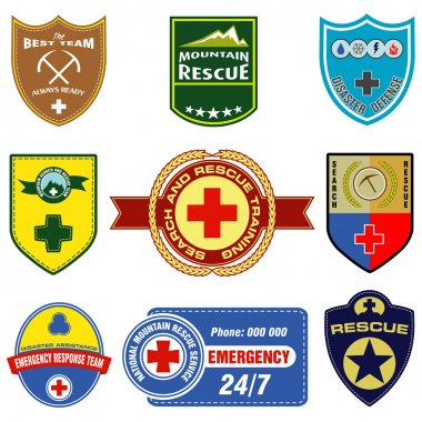 Search and rescue themed labels
