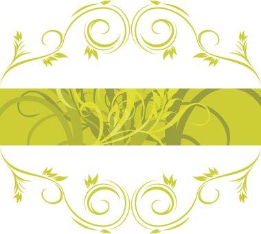 Green ornamental frame