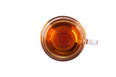Cup of tea, top view
